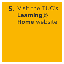 TUC's Learning at Home website